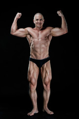 bodybuilder, bodybuilding, sports, background, black, studio