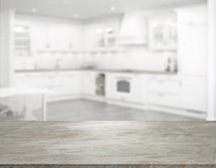 kitchen with marble worktop