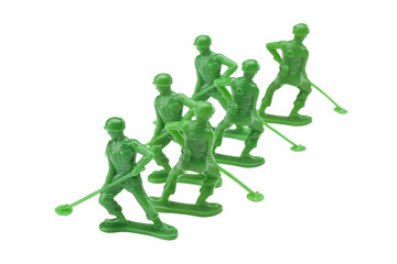 close up image of toy soldiers