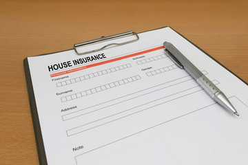 House Insurance application form
