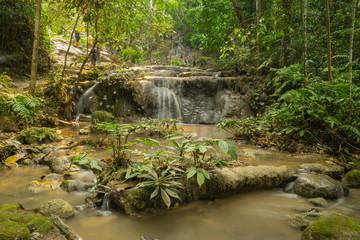 Deep forest waterfall at Phukang waterfall, Doi Luang National Park, Chiang Rai, Thailand