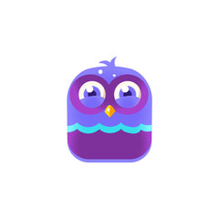 Giggling Blue Chick Square Icon