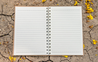 Notebook for nature concept