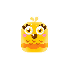 Yellow Adorable Chick Square Icon