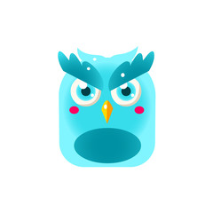 Blue Owl Chick Square Icon