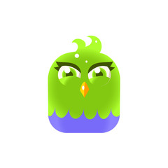 Green Girly Chick Square Icon