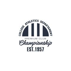 Classic Sport Label College Athletics Department
