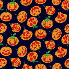 Color pattern of pumpkins