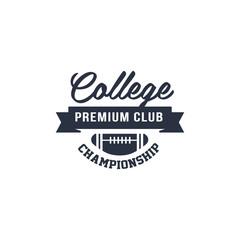 Classic College Football Label
