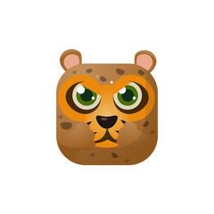 Leopard Square Icon