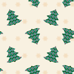 Christmas and new year background with Christmas trees