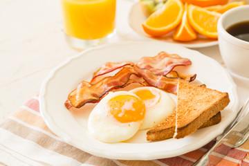 Traditional american breakfast