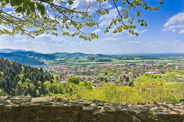 View from the Schauenburg to Oberkirch, Black Forest, Germany