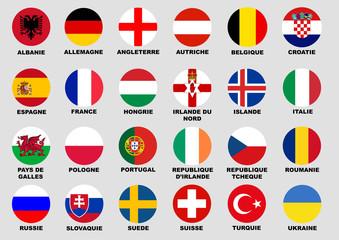 Foot euro 2016 drapeau pays