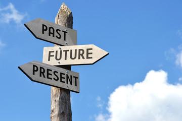 Past, future, present signpost