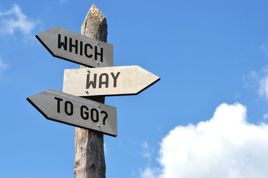 Which way to go? Signpost