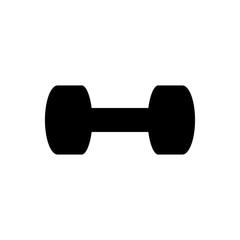 dumbbell bodybuilding black simple icon