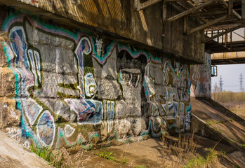 Graffiti under the railway bridge