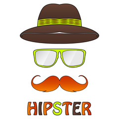 different hipster style. eps 10 vector iilustration