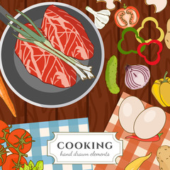 Cooking cookbook kitchen table cooking recipes
