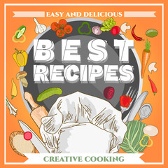 Best recipe poster template cookbook cookery book