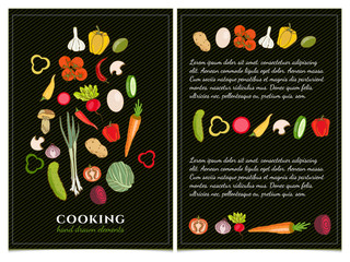 Cookbook template hand drawn elements
