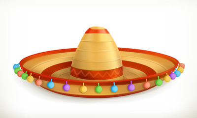 Sombrero, vector icon