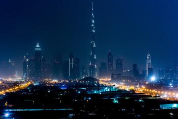 Dubai panorama at night