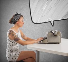 Pin-up writer