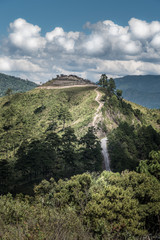 border thai and myanmar at doi angkhang mountain of chiangmai in Thailand