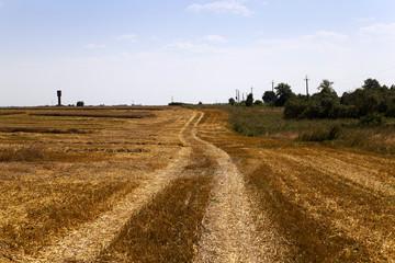 no paved road