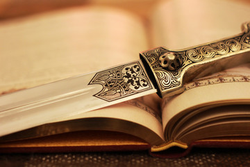 book and dagger