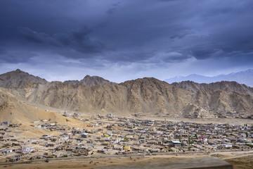 Leh city view from Leh Palace, Leh, Ladakh, India