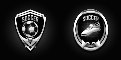 soccer chrome emblems