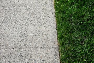 sidewalk wtih grass