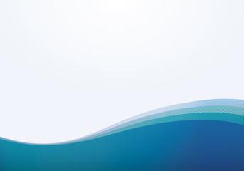 波模様(青色)