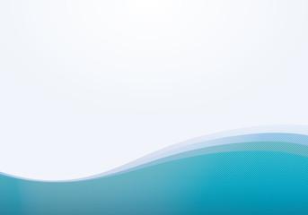 波模様(水色)