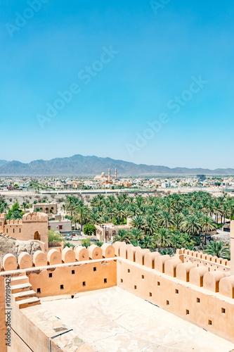 Oman Country Landscape at Nakhal Fort in Al Batinah Region, Oman  It