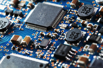 The pictures were taken using a macro lens a circuit board