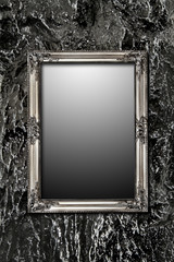 mystery mirror on black wall incl. clipping path