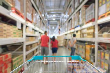 abstract blur supermarket aisle