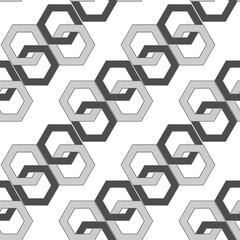 seamless pattern - hexagonal links of an abstract chain.