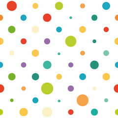 Vector seamless spotted pattern. Good for children's stuff, wrapping paper, scrapbooking and stationery supplies.