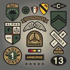 Set Of Military and Army Patches and Badges 1