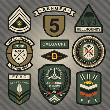 Set Of Military and Army Patches and Badges 2