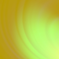 Abstract Green Orange Wave Background.