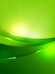 Abstra background green curve and layed element vector illustrat