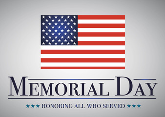 Honoring all who served banner for the memorial day.