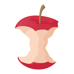Apple stump icon, cartoon style