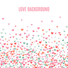 Romantic pink and blue heart background. illustration